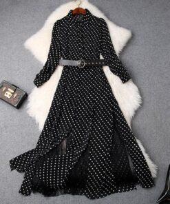Robe à Pois#robe pin up pois sandro#Robe à Pois Pin Up Sandro Bardot - coccinelle-paradis