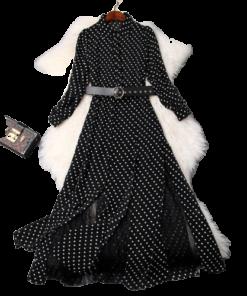 robe longue a pois pin up sandro bardot