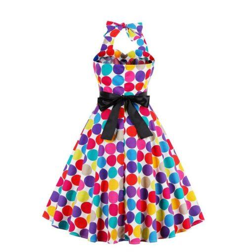 robe a petit pois multicolores