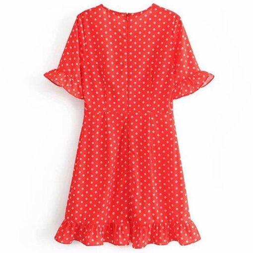 robe rouge courte femme