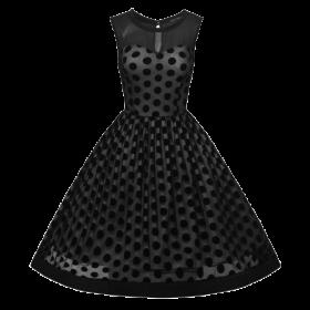 robe a pois annee 50 soiree noire