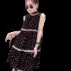 robe grossesse noire avec empiecement a pois
