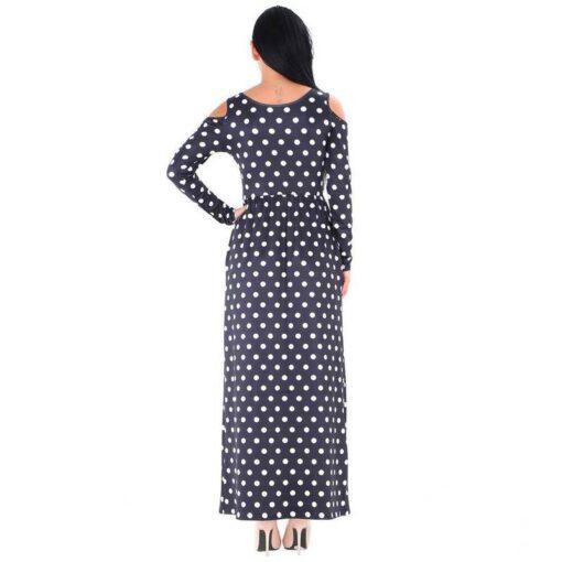 robe bleu longue femme