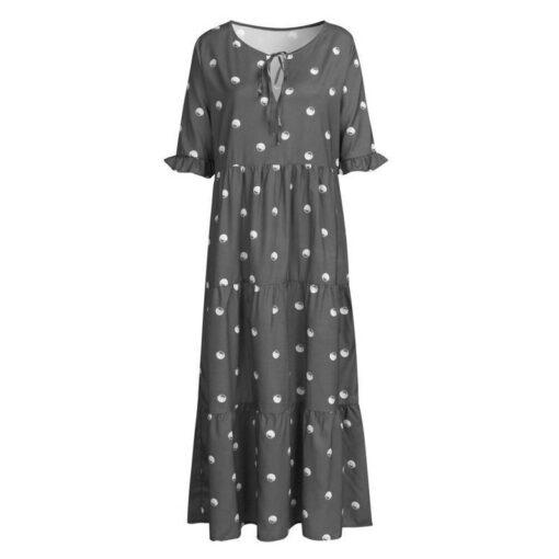 robe maxi longue avec dentelle