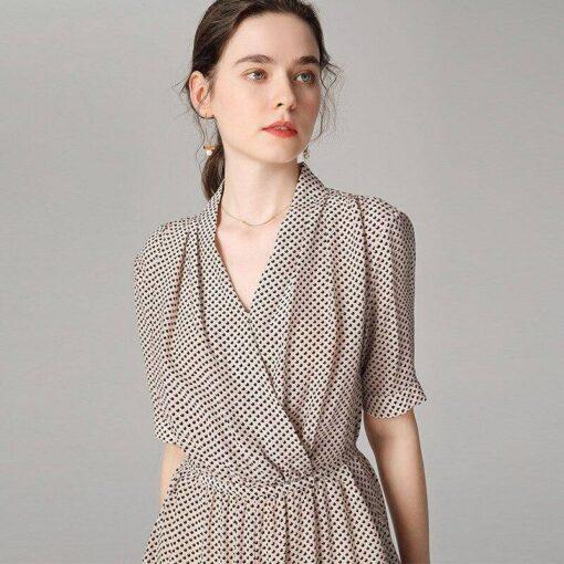 robe tunique soie