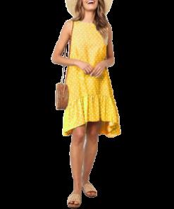 robes courtes claires a petits pois contrastes