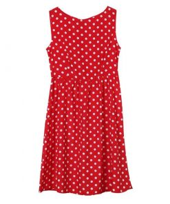 robe a pois ceinture rouge