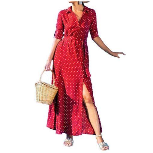 robe plissee mi longue