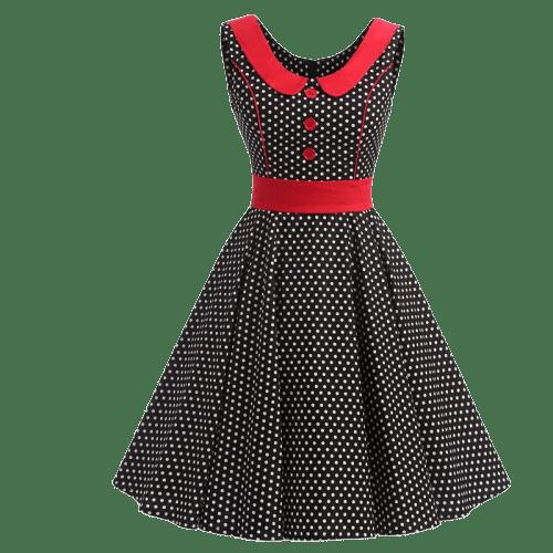 robe a pois courte pablo vintage