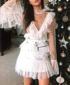 robe de soiree blanche courte