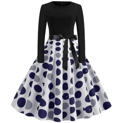 robe a pois noir vintage