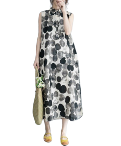 robe longue a pois vintage