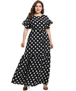 robe longue noir femme