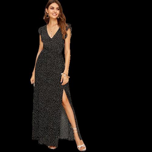 robe longue pour gala soiree a pois