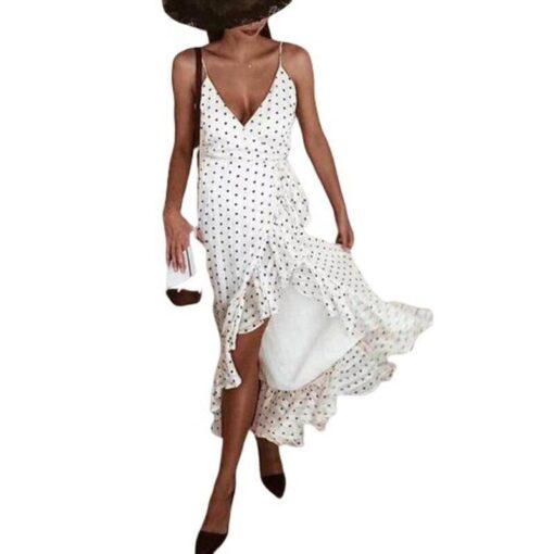 robe sans manche en dentelle