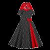 robe soiree avec noeud papillon a pois courte