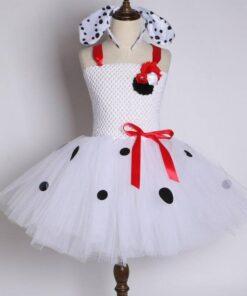 robe mouchoir de tulle fille