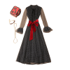 robe annee 50 femme a petit pois