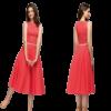 robe bal rouge a pois courte