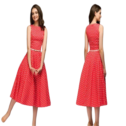 robe bal rouge a pois courte