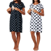 robe grossesse a pois annees 50 manches coeur middleton