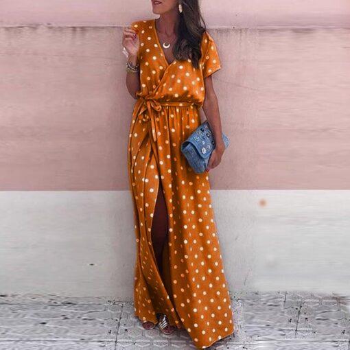 Robe à Pois##Robe à Pois Taille d'été Doublure V - coccinelle-paradis