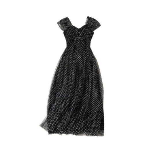 robe longue a pois femme