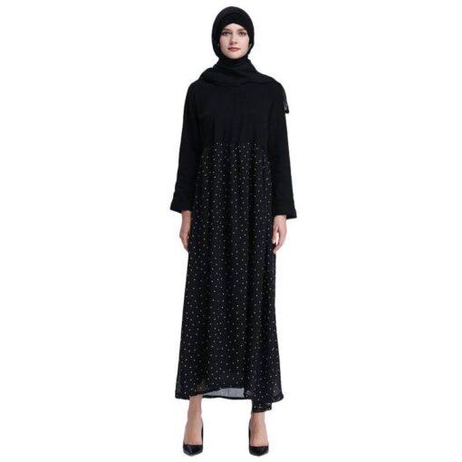 tenue robe longue noire