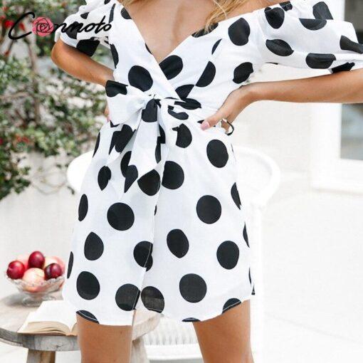 robe a pois blanc