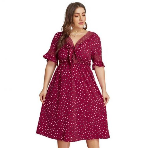 robe dentelle rouge