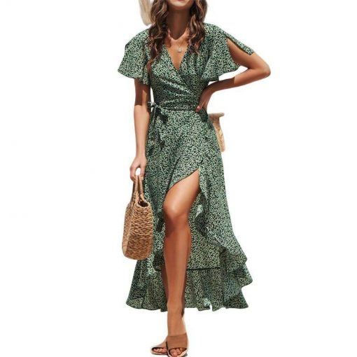 robe longue asymetrique
