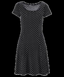 robe noire a pois moulante courte