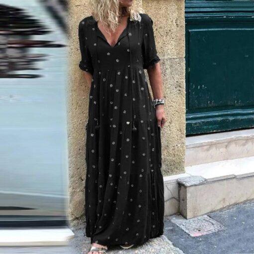 dentelle robe longue