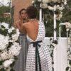 robe de soiree dentelle asymetrique