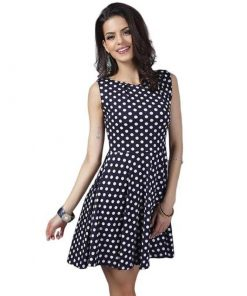 robe a pois retro