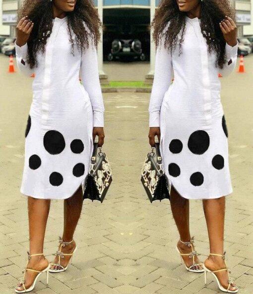 robe chemise longue leopard