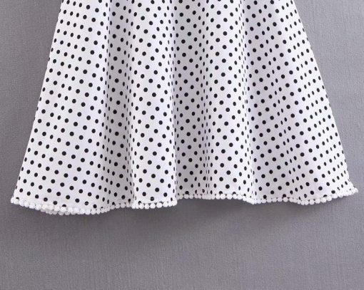 robe courte moulante a pois