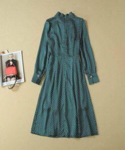 robe verte longue