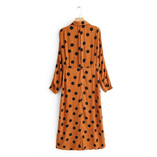 robe a petit pois marron boohoo