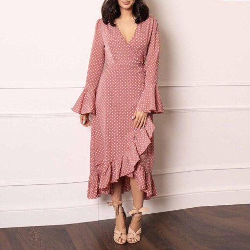 Robe à Pois##Robe à Pois Maille longues - coccinelle-paradis