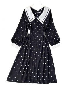 robe a petit pois retro