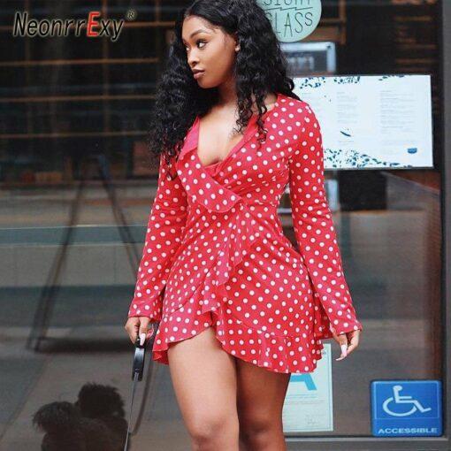 Robes à Pois Courtes##Robe à Pois Courte Africa Swag Sublimer - coccinelle-paradis