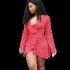 robe rouge pois blanc 1
