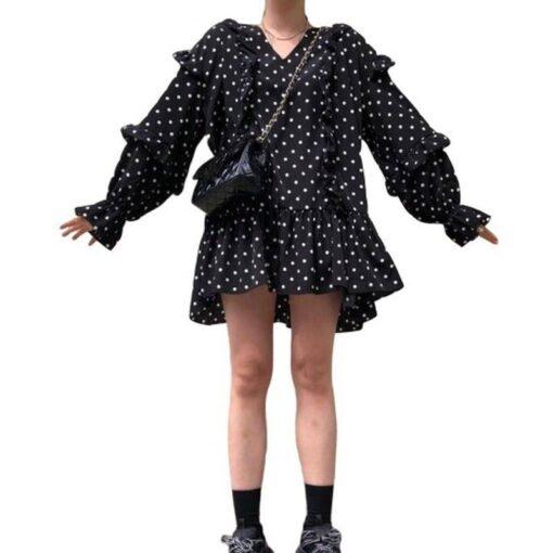 robe courte col plastron