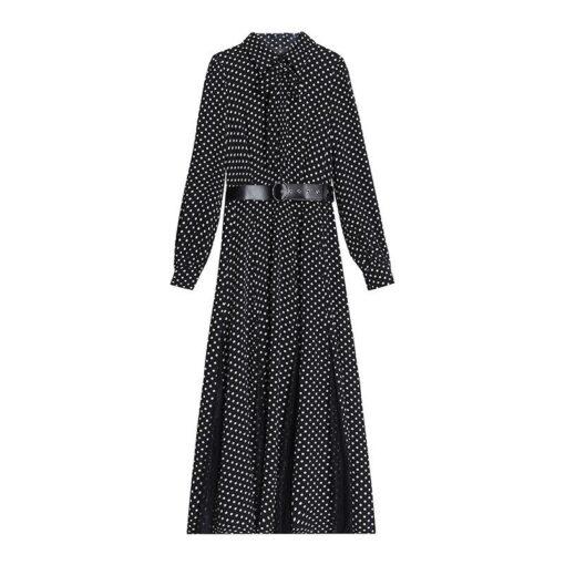 Robe à Pois#robe coccinelle fille longue noir#Robe à Pois Coccinelle Fille Longue Noir - coccinelle-paradis