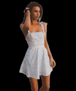 robe a pois courte plage ete