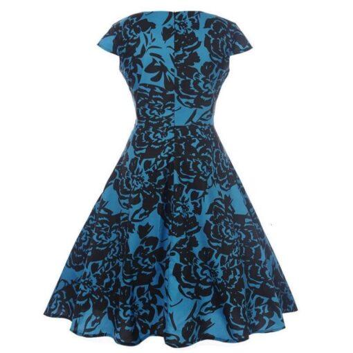 Robe à Pois##Robe à Pois Elegante Rétro Col Chemisier - coccinelle-paradis