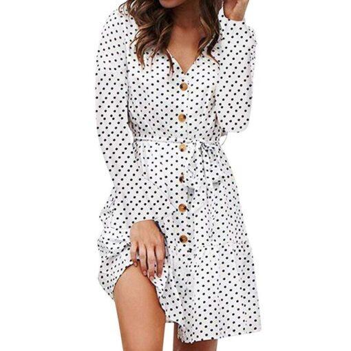 robe longue boutonnee