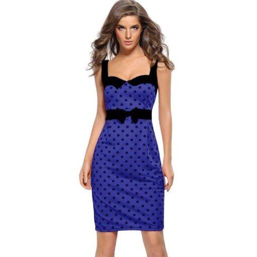 robe bleu moulante