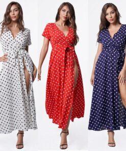 Robe à Pois#robe pois american vintage#Robe à Pois American Vintage - coccinelle-paradis